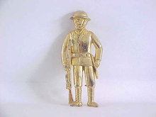 Signed Soldier Pin Vintage Polcini War