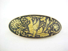 Damascene Dragon Pin Fire Breathing Toledo Spain Vintage