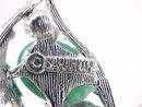 Signed Fantasy Pin Leaf Cabochons Vintage