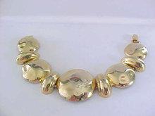 Vintage Chunky Bracelet Gold Tone