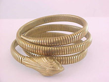 Victorian Snake Bracelet Coil Arm Band Antique Serpent