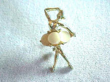 Vint Ballerina Pin with MOP skirt - Nice!