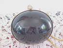 Vintage Egg Purse Black Gold Lucite Cool