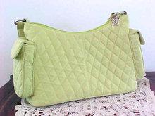 Vera Bradley Hand Bag Double Pockets Green