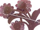 1930s Large Resin Flower Pin Brooch Deep Brwn