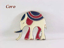 Coro Enamel Elephant Pin Unusual Vintage