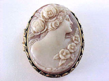 Cameo Trinket Box Vintage Hinged Beautiful