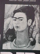 FRIDA KAHLO Collectible Mexican Painter Theater Mounted Advertising