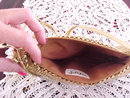 Gold Mesh Hand Bag Vintage Shoulder Clutch