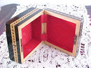 Vintage Marquetry Box Optical Illusion Center Keyhole