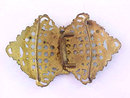 Antique Champleve Belt Buckle 1900s Openwork Beautiful
