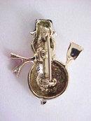 Vintage Snowman Pin Enamel Sweet