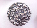 Vintage Floral Button Covers Five Silver Beautiful!