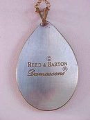 Reed Barton Christmas Tree Pendant Neck Damascene Vintage