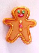 Gingerbread Man Pin Cute Resin