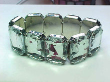 Rectangle Cut Acrylic Stretch Bracelet