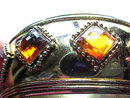 Amber Resin Clamper Chunky Vintage Diamond Shapes