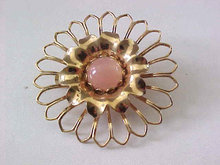 Pink Moonglow Pin Open Work Vintage Beautiful!