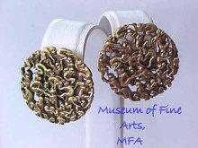 MFA Monkey Earrings Vintage Pierced Posts Unique