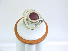 Modernist Ring Unusual Hand Wrought Vintage