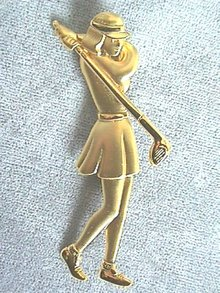 JJ Woman Golfer Pin in Action!