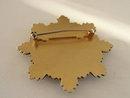 Enamel Heraldic Layered Pin Brooch Vintage Key Hole Pat. No. Banner