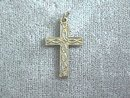 Etched Silver Cross Pendant w/Ring