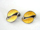 Vintage David Andersen Set Yellow Enamel Earrings Pin Brooch Gorgeous!