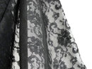 Black Lace Vintage Fabric Bolt 14+ Yards 51 Inches Wide