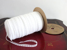REDUCED  White Lace Trim Vintage 373 YARDS On Original Spool