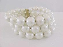 Imitation Pearl Memory Bracelet Graduating Vintage