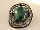 Eliat Stone Pin Pendant Sterling Vintage Made In Israel Stunning Metalwork