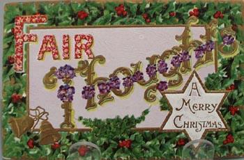 Fair Thoughts Christmas Post Card.