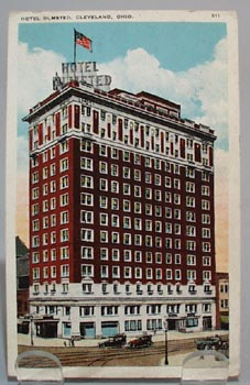 Hotel Olmsted Cleveland Ohio Post Card