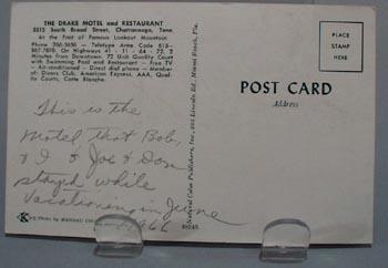 Drake Motel Chattanooga, Tenn Post Card