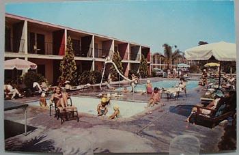 Fantasy Motel Anaheim Calif Post Card.