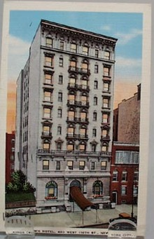 Kings Crown Hotel NYC Post Card