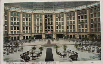 West Baden Springs Hotel West Baden IN Post Card.