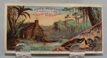 Victorian Trade Card Ayers Ague Cure 1800's