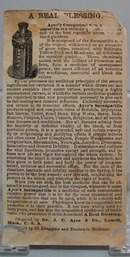 Victorian Trade Card Ayer's Sarsaparilla 1800's.