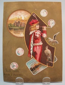 Victorian Trade Card Spayde & Cookson;s Boy with Bubbles 1800