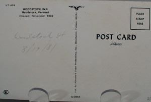 Woodstock Inn Woodstock VT Post Card