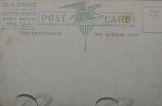 Traveling Band House of David Post Card