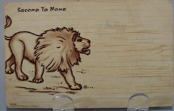 Second to None Lion Post Card.