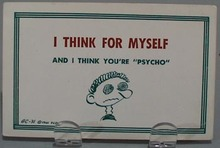 I Think For Myself Humorous Post Card