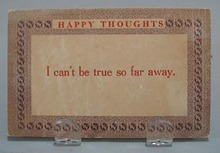Happy Thoughts Humorous Post Card