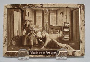 Fallen In Love Humorous Post Card