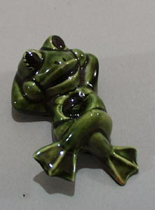 Duncan Ceramic reclining frog