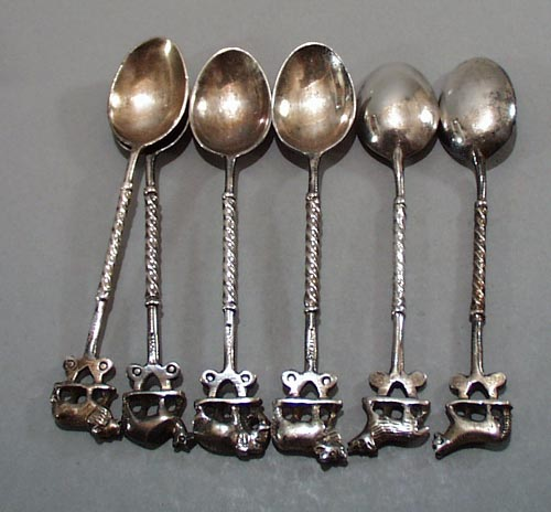 Jagat narain & Sons Wild Animal Sterling Spoons