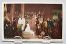 Baptism of Pocahontas Indian Post Card